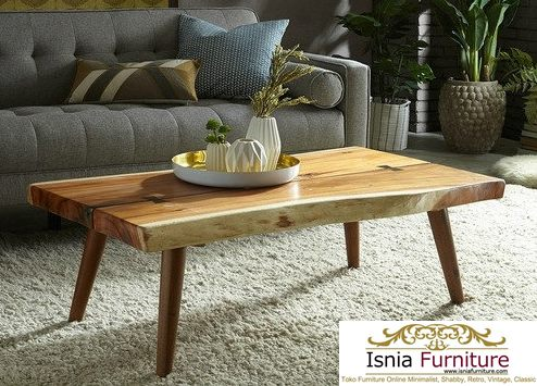 Meja Kopi Trembesi Furniture Unik