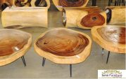 Coffe Table Bahan Kayu Trembesi Model Modern