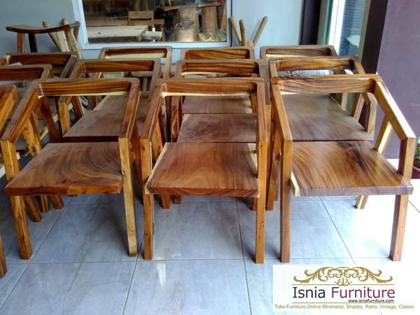 kursi cafe retro kayu trembesi