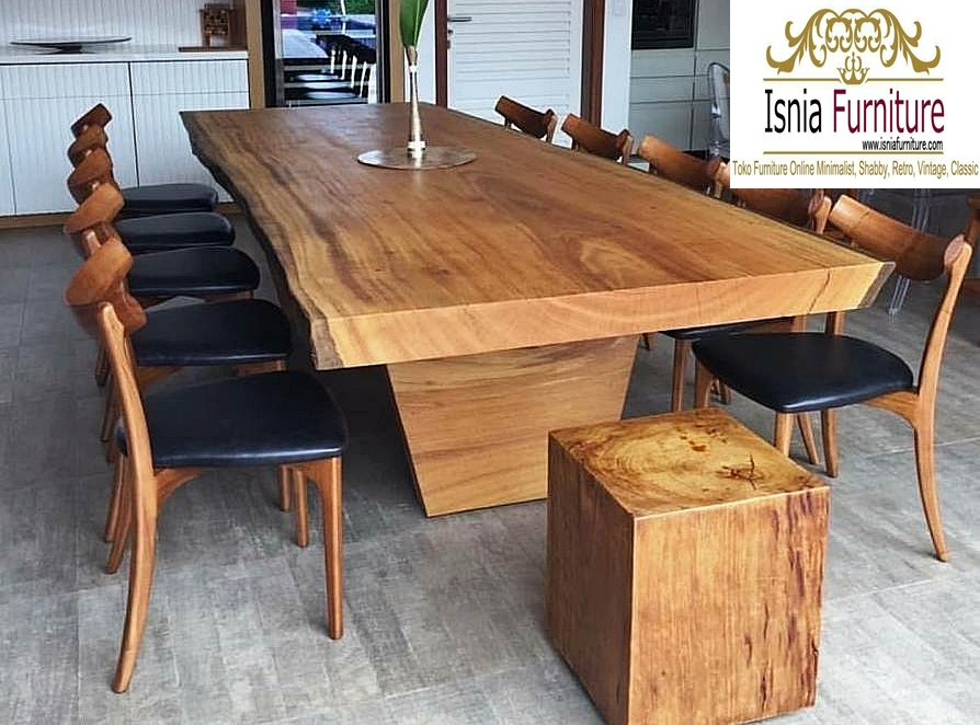 Set Meja Cafe Kayu Trembesi Unik